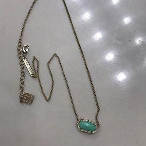 Kendra Scott Elisa turquoise necklace